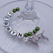 Labrador Retriever Dog Personalised Wine Glass Charm